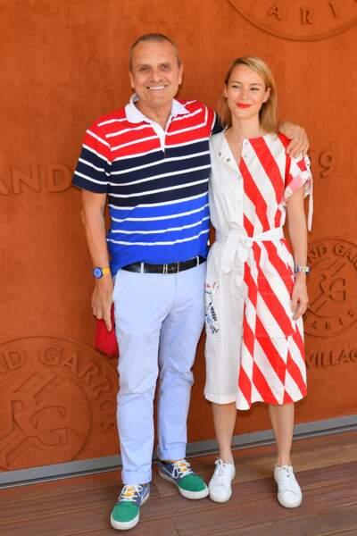 Jean-Charles de Castelbajac et Pauline de Drouas