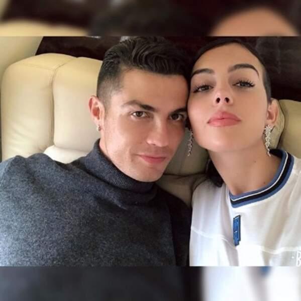 Selfie de couple pour Cristiano Ronaldo et Georgina Rodriguez.
