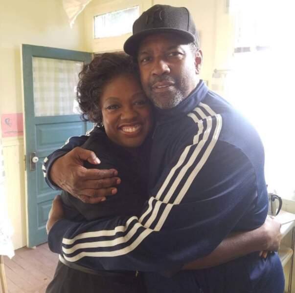 Quelques rencontres people : Viola Davis et Denzel Washington. Rien que ça.