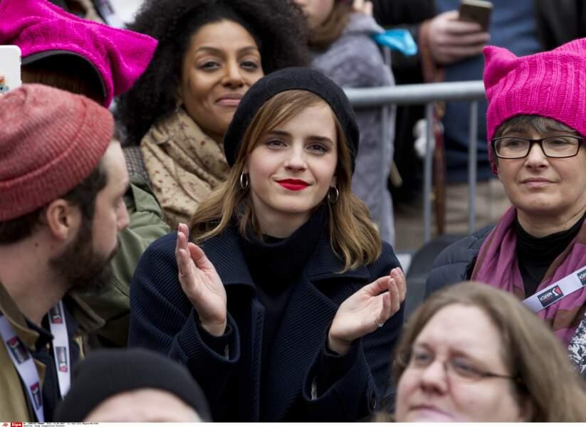 Emma Watson était dans la foule