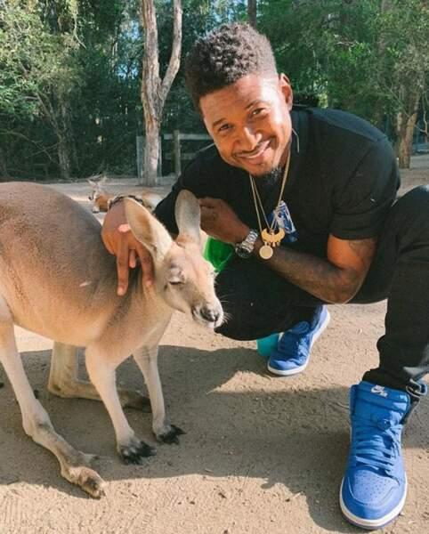 Usher s'est fait un nouveau copain en Australie.