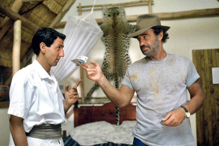 1988 : Claude Lelouch dirige Jean-Paul Belmondo dans Itinéraire d'un enfant gâté, aux côté de Richard Anconina