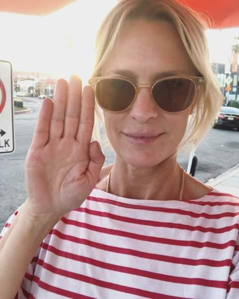 Robin Wright a beau être une star, sur Instagram elle fait ce qu'elle veut