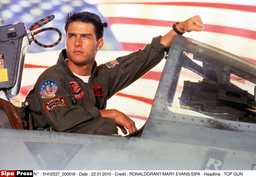 Tom Cruise, alias Maverick, en 1986