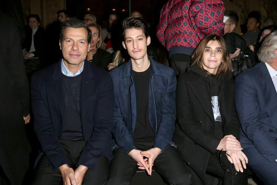 Laurent Lafitte, Pierre Niney et Carine Roitfeld au premier rang du défilé Berluti