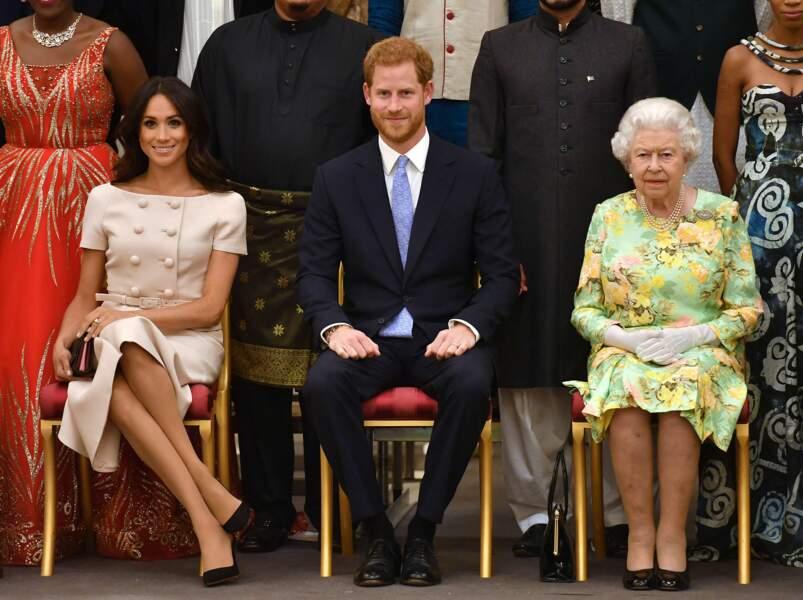 Meghan Markle est apparue à de nombreuses reprises aux côtés de la Reine