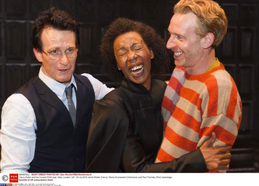 Fou rire en coulisse entre les interprètes de Harry Potter, Hermione et Ron