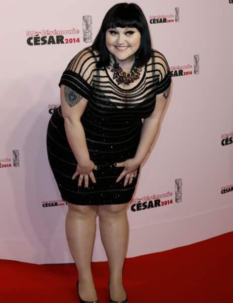 La chanteuse Beth Ditto, du groupe Gossip, était présente pour remettre un César.