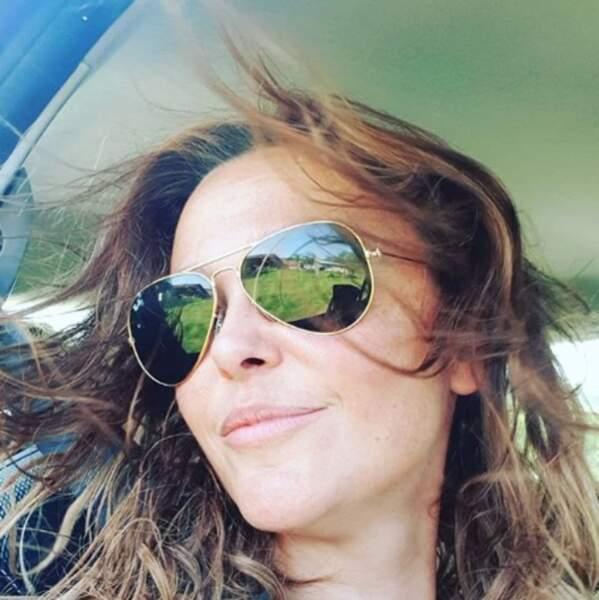 Sandrine Quétier a prouvé qu'elle était une fille dans le vent.