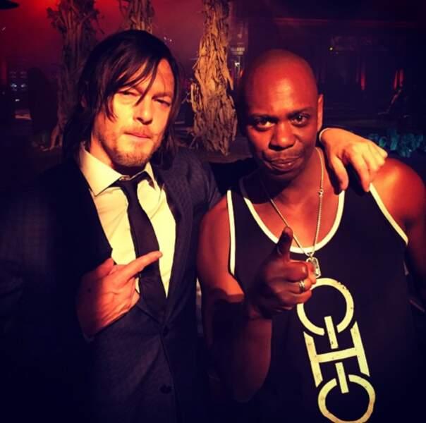 Daryl et Bob, alias Norman Reedus et Lawrence Gilliard Jr.