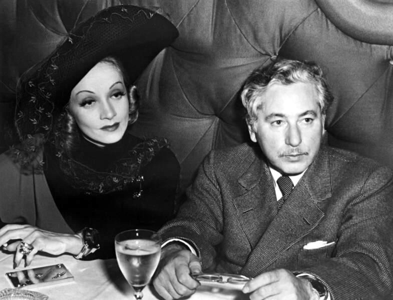 Josef Von Sternberg et son actrice fétiche, la femme fatale Marlene Dietrich, avec qui il tournera sept films.