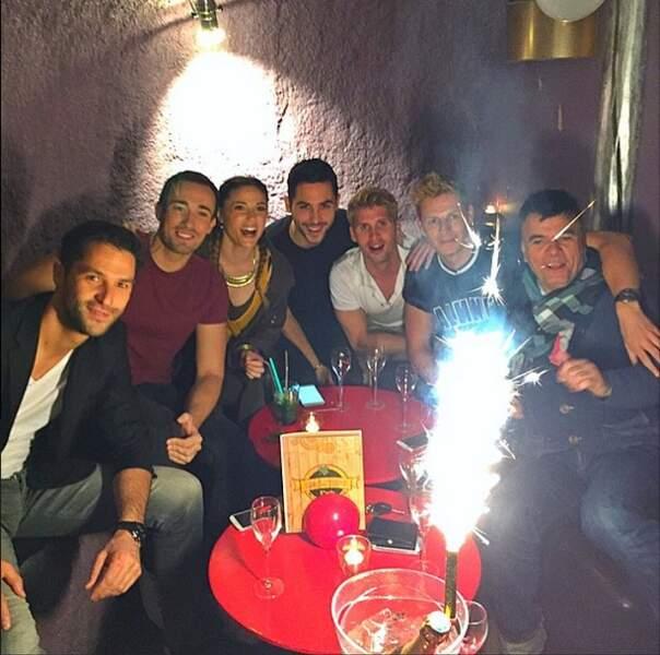 Ils ont célébré tous ensemble l'anniversaire de Benoît Dubois