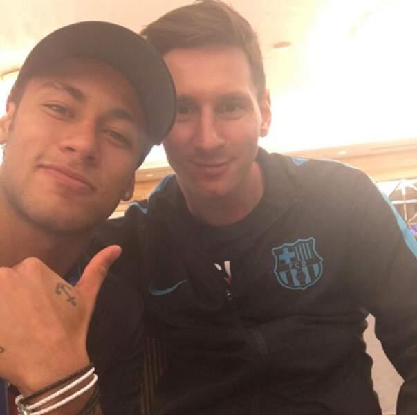 Neymar et son idole : Lionel Messi.