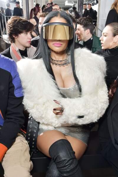 Mais l'une des stars qui a le plus fait parler est sans aucun doute Nicki Minaj, ici chez Rick Owens...
