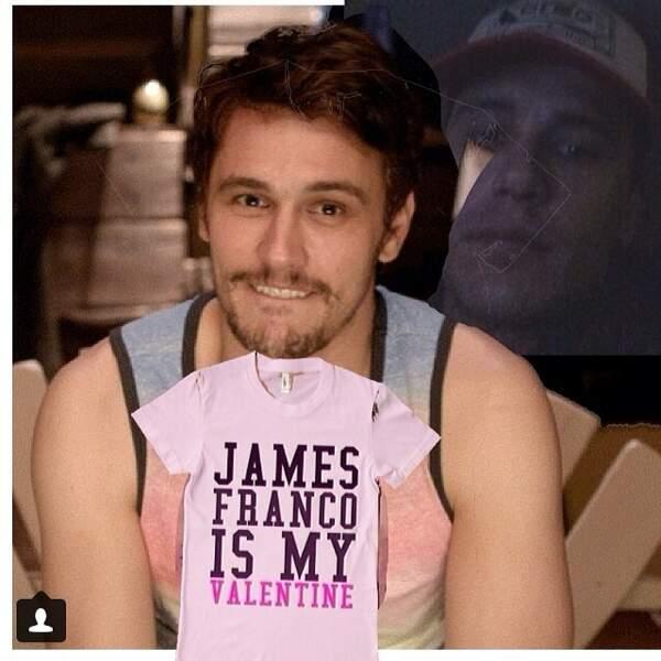 Même pour la Saint Valentin, James Franco reste adepte des photos décalées