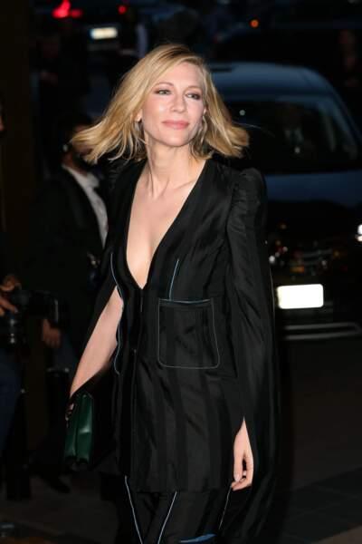 Sublime Cate Blanchett, la présidente du jury du Festival de Cannes 2018, à son arrivée