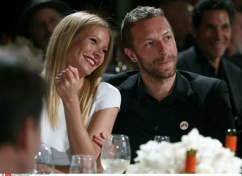 Sa grande histoire d'amour, elle la vit avec Chris Martin le chanteur de Coldplay