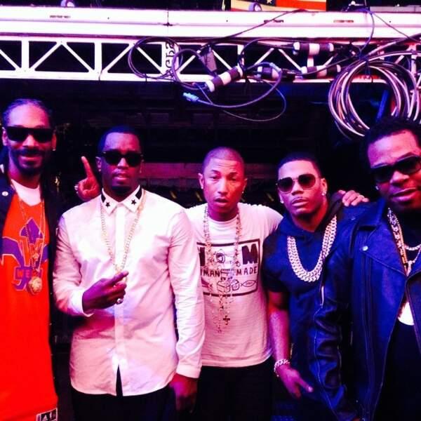 Bonus : Pharrell avec des figures du rap...