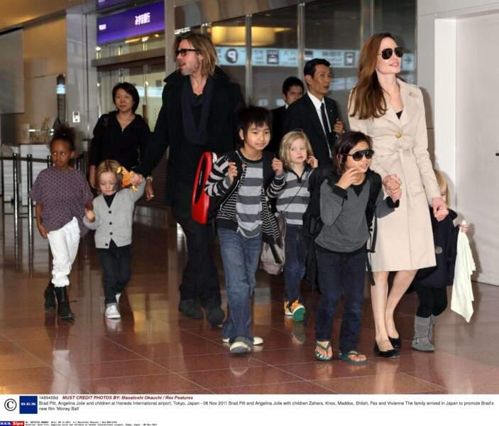 Maddox, Pax et Zahara sont les trois enfants adoptés par Brad Pitt et Angelina Jolie.
