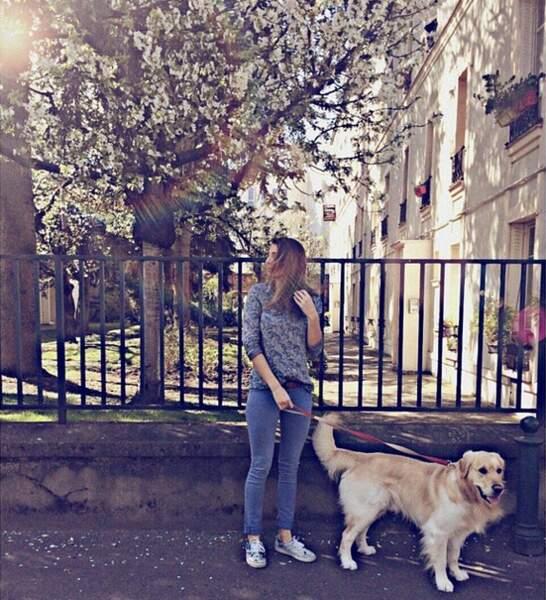 Laury Thilleman et son chien Hector forment un duo de choc !