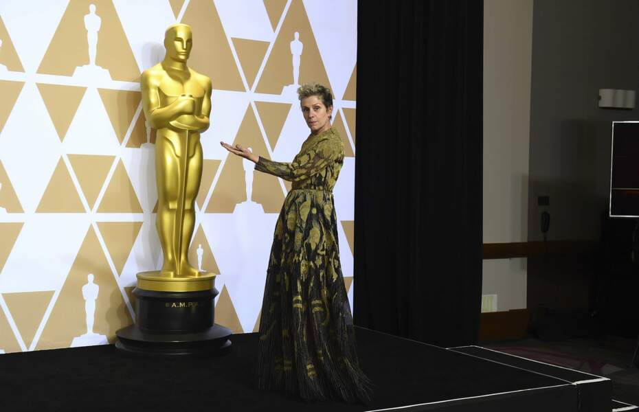 Frances McDormand a eu enfin son heure de gloire cette nuit : Meilleure actrice pour Three Billboards…
