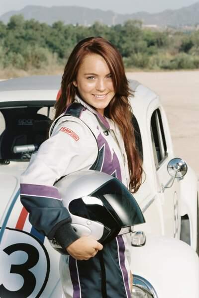 Encore une production Disney pour la rouquine Lindsay Lohan dans La coccinelle revient (2005).
