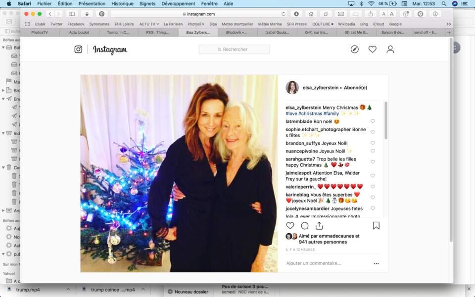 Elsa Zylberstein, ravie d'être en famille pour Noël