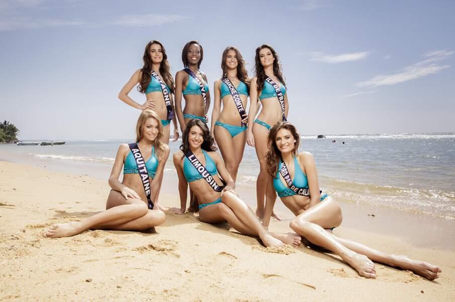 Miss Bretagne et Guyane, Miss Franche-Comté, Miss Ile-de-France et Aquitaine, Miss Limousin et Nord-pas-de-calais