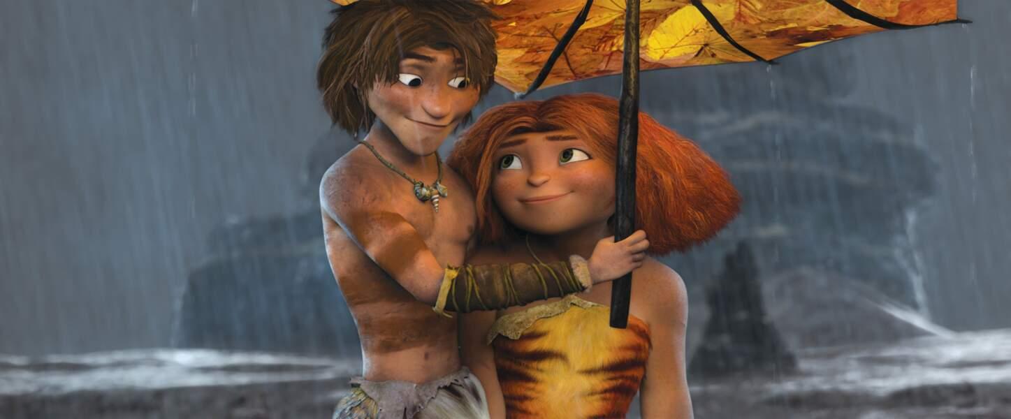 Guy et Eep, héros romantiques ou presque des Croods (2013)
