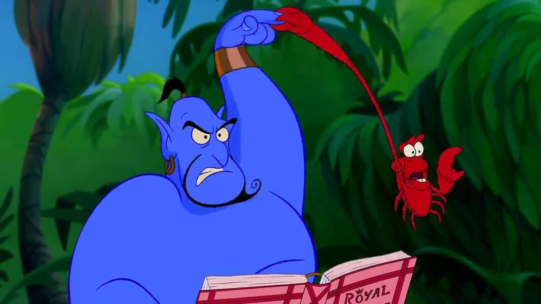 Sebastian, le protecteur d'Ariel, a bien failli finir en bisque de homard dans l'assiette du Génie d'Aladdin.