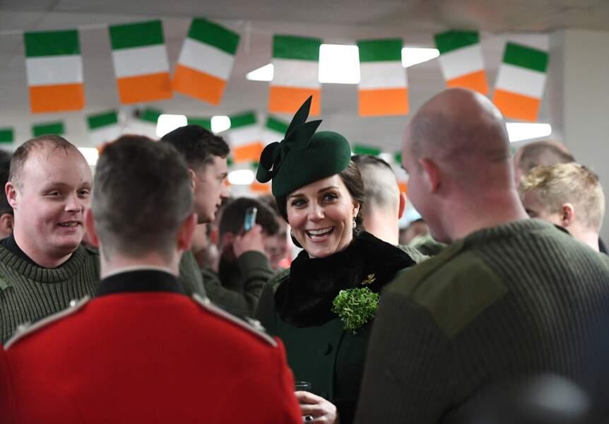 Le couple princier a salué les cavaliers irlandais