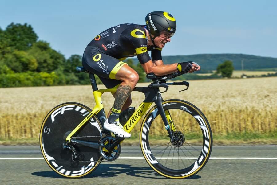 Sylvain Chavanel affiche le moteur qui existe sous la peau de son mollet !