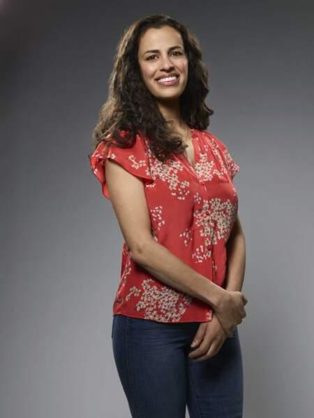 Elle est interprétée par l'actrice canadienne Athena Karkanis