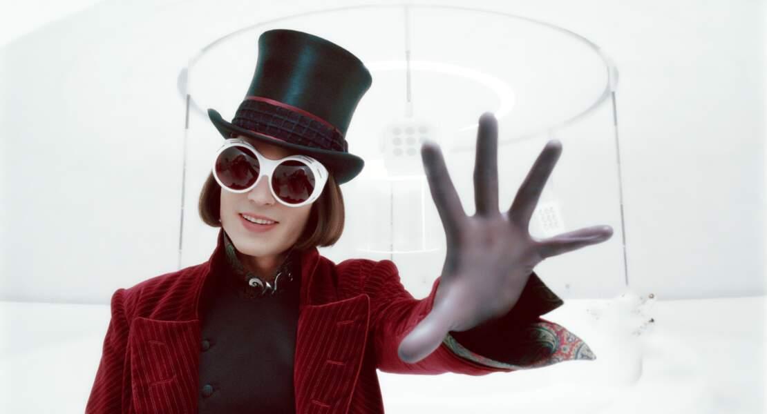 Johnny Depp obtiendra pas moins de quatre prix pour son rôle de Willy Wonka