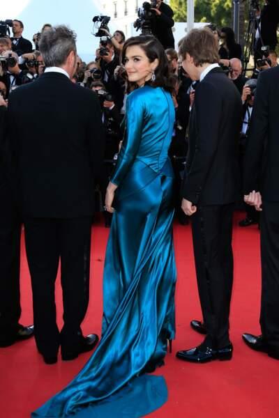"""Rachel Weisz lors de la montée des marches pour """"Youth"""" au Festival de Cannes"""