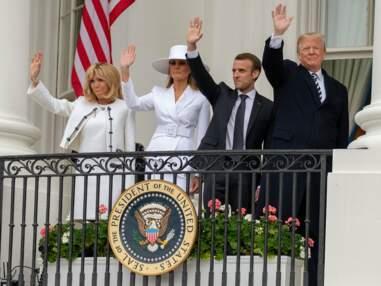Dîner, bises, glamour... complicité affichée entre les Macron et les Trump