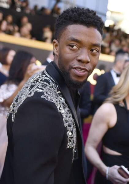 On ne présente plus Chadwick Boseman, alias Black Panther