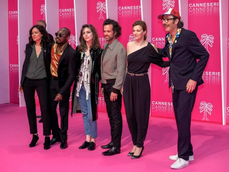 Et voici l'équipe de Vernon Subutex, la série de Canal+ projetée pour la cérémonie d'ouverture