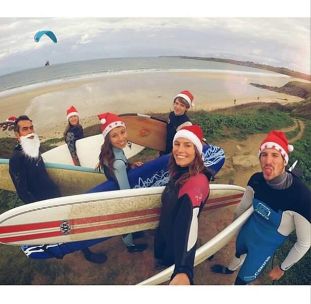 Quoi de mieux qu'une séance de surf pendant les fêtes !