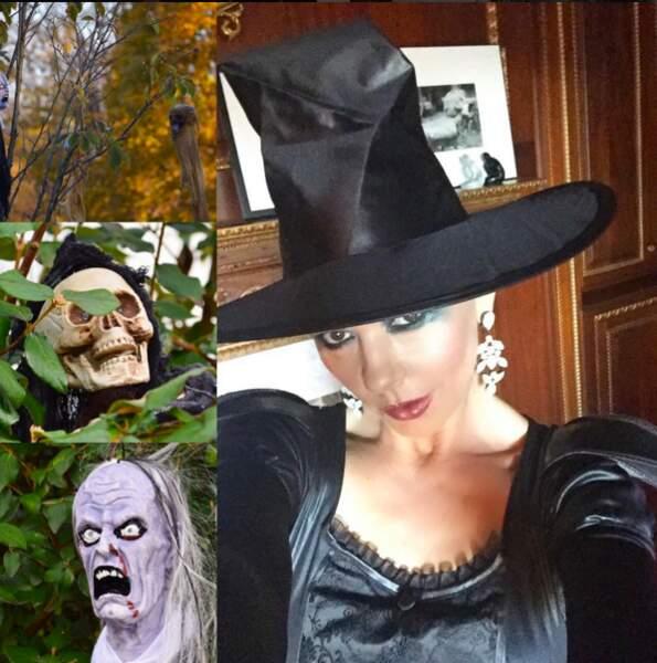 Pour Halloween, elle veut bien se déguiser en sorcière, mais en belle sorcière alors