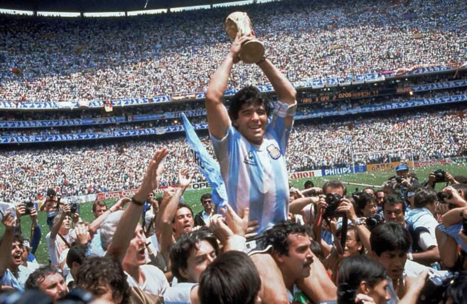 1986 - Diego Armando Maradona capitaine des Argentins vainqueurs de la RFA