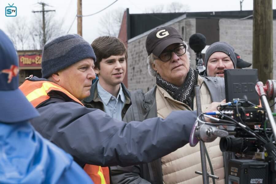 Sur le tournage avec le producteur et réalisateur Mike Listo, à Vancouver, au Canada.