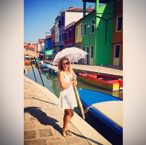 Elle est donc allée faire un tour à Venise.