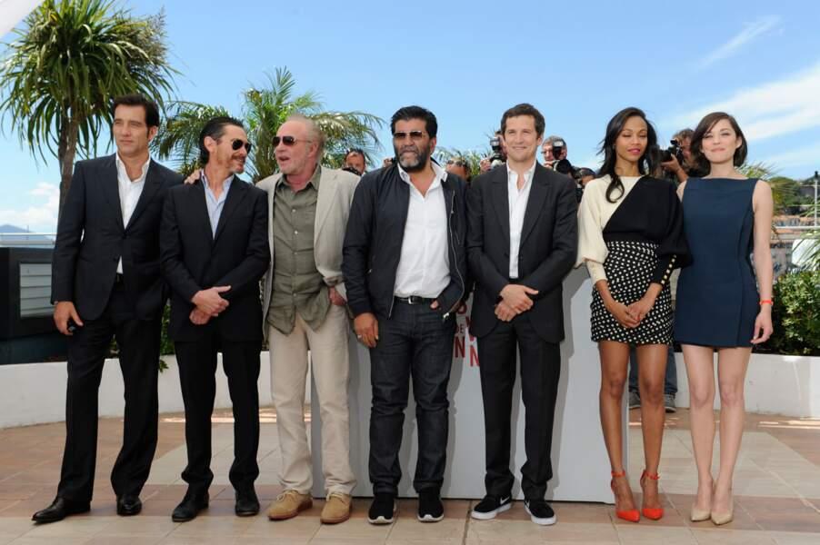 Et voici toute l'équipe du film de Guillaume Canet, Blood Ties.