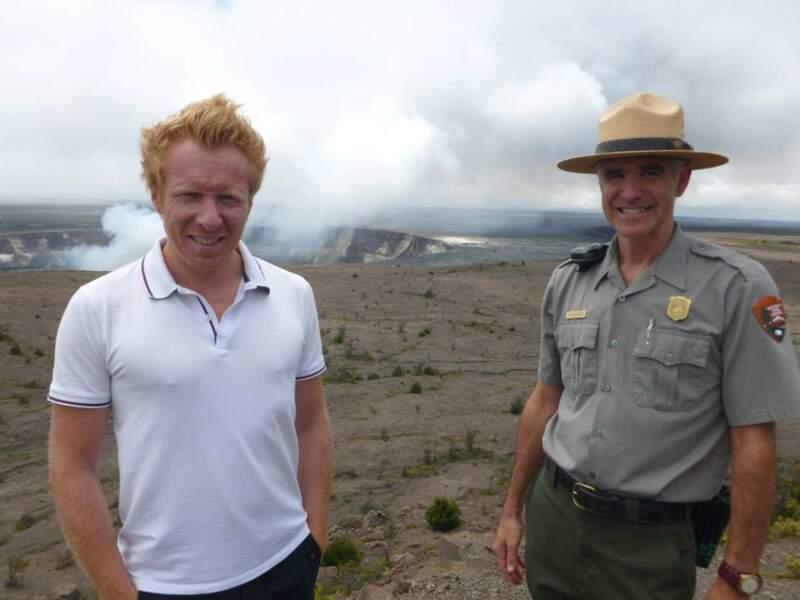 Allez, hop, une petit photo sur les flancs du volcan Kilauea.