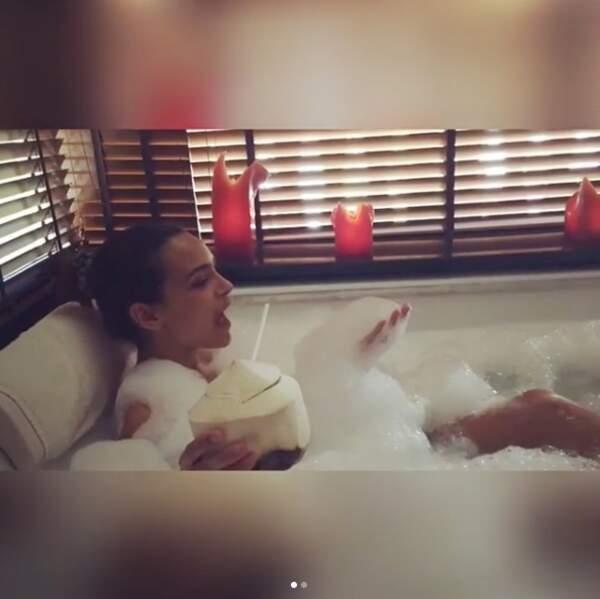 Moment détente dans son bain !