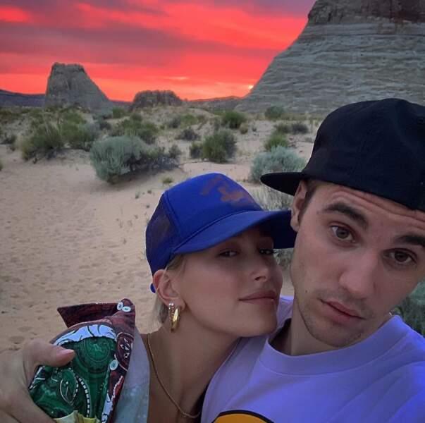 Justin Bieber et sa femme Hailey Baldwin sont beaucoup trop mignons.