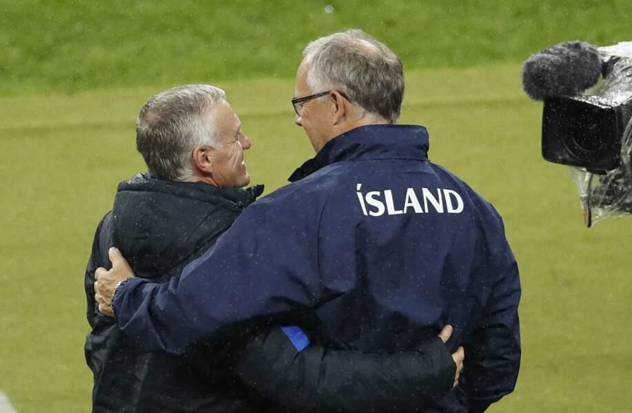 Didier Deschamps félicité par son homologue islandais Lars Lagerback