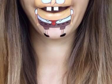 Insolite - Elle se dessine des personnages de dessins animés sur la bouche
