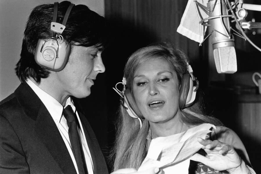 """""""Paroles, paroles"""" enregistré avec Dalida en 1973 illustre leur liaison qui eu lieu une décennie auparavant"""